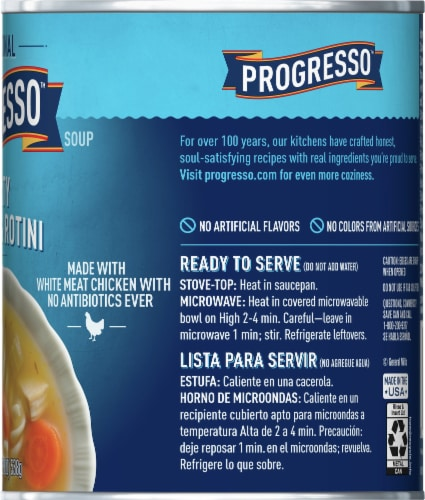 Progresso Traditional Hearty Chicken & Rotini Soup Perspective: right