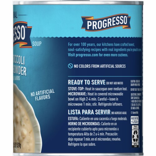 Progresso Traditional Potato Broccoli & Cheese Chowder Perspective: right