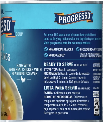 Progresso Traditional Chicken & Herb Dumplings Soup Perspective: right