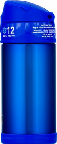 Thermos Stainless Steel Vacuum Insulated Straw Bottle - Blue Perspective: right