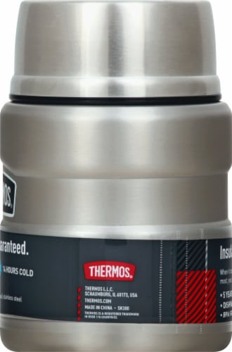 Thermos Stainless Steel Matte King Food Jar - Silver Perspective: right