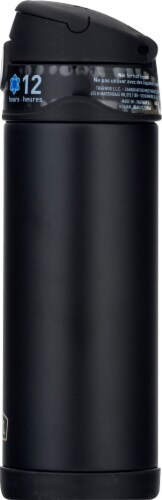 Thermos FUNtainer Stainless Steel Vacuum Insulated Hydration Bottle - Matte Black Perspective: right