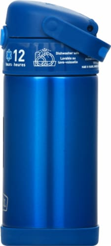 Thermos FUNtainer Stainless Steel Bottle - Navy Perspective: right