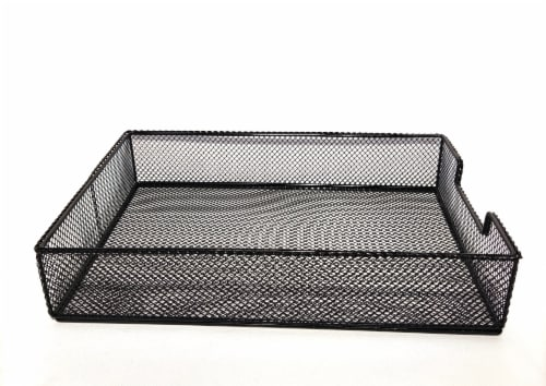 HD Designs Large Mesh Wire Tray - Black Perspective: right