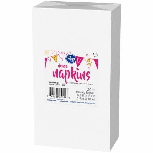 Kroger® Entertainment Essentials White Linen Deluxe Napkins Perspective: right
