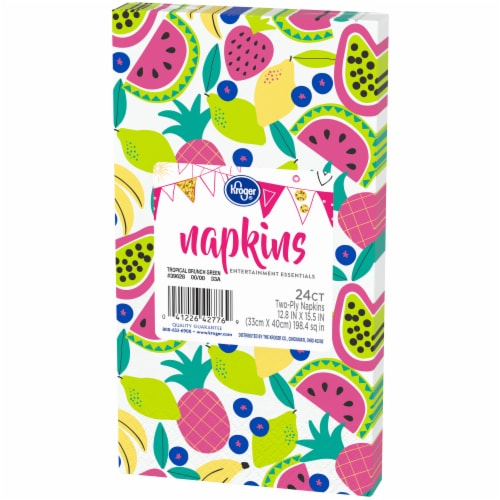 Kroger® Entertainment Essentials Tropical Brunch Guest Napkins - Green Perspective: right