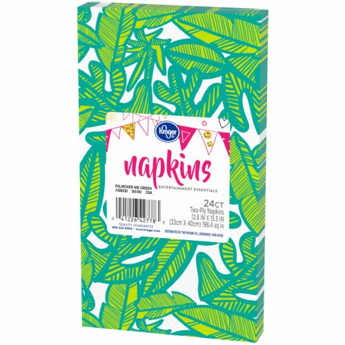 Kroger® Entertainment Essentials Palmover Me Guest Napkins - Green Perspective: right