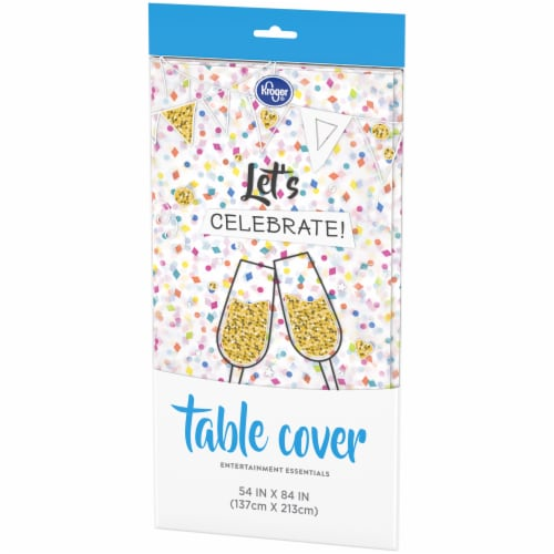 Kroger® Entertainment Essentials Table Cover - Confetti White Perspective: right