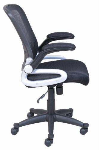 HD Designs Soho Mesh Manager Chair - Black/Silver Perspective: right