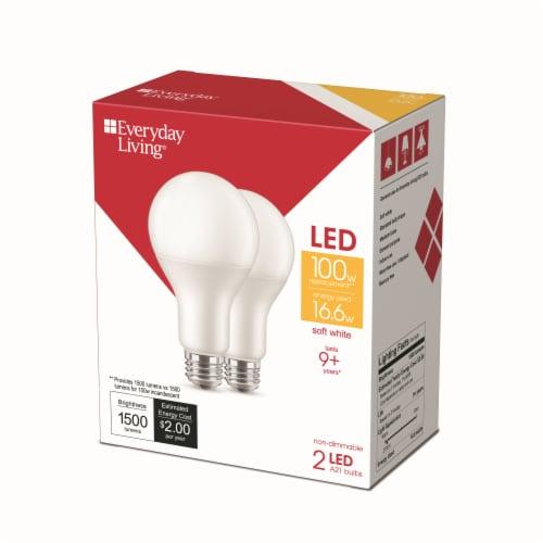 Everyday Living® 16.6-Watt(100-Watt) A21 LED Light Bulbs Perspective: right