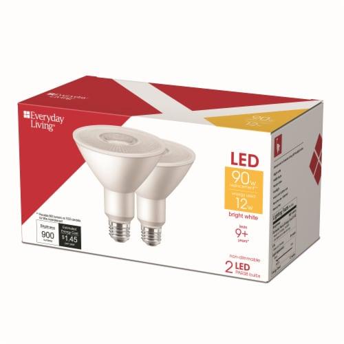 Everyday Living® 12-Watt (90-Watt) PAR38 LED Floodlight Bulbs Perspective: right