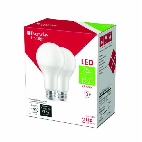 Everyday Living® 12.2-Watt (70-Watt) A21 LED Light Bulbs - Soft White Perspective: right
