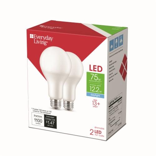 Everyday Living® 12.2-Watt (75-Watt) A21 LED Light Bulbs Perspective: right