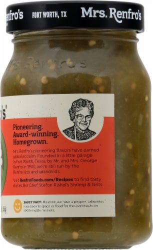 Mrs. Renfro's Hot Green Salsa Perspective: right
