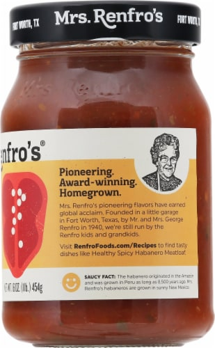 Mrs. Renfro's® Hot Habanero Salsa Perspective: right