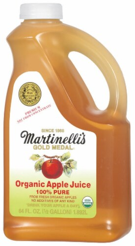 Martinelli's 100% Pure Organic Apple Juice Perspective: right