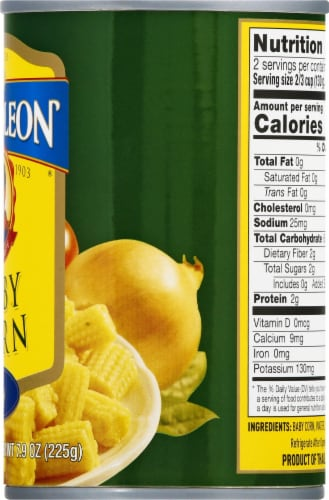 Napolean Cut Baby Corn Perspective: right