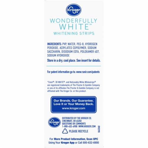 Kroger® Wonderfully White Whitening Strips Perspective: right