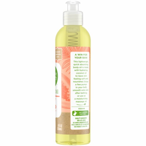 Simple Truth™ Coconut Papaya Body Oil Perspective: right