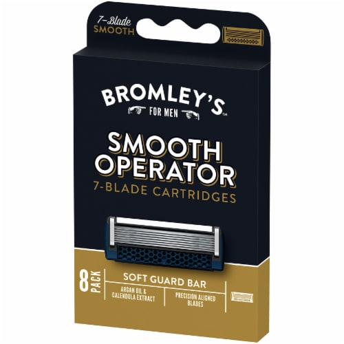 Bromley's™ For Men Smooth Operator 7-Blade Razor Cartridges Perspective: right