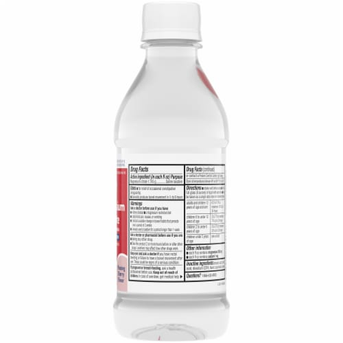 Kroger® Cherry Flavor Magnesium Citrate Saline Laxative Perspective: right