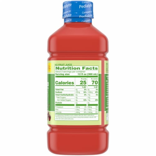Comforts™ Cherry Punch Flavored Advantage Care Electrolyte Solution Perspective: right