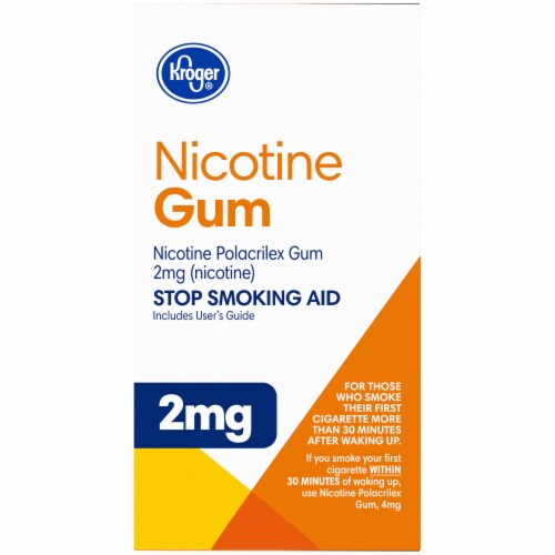 Kroger® Coated Fruit Wave Nicotine Gum 2mg Perspective: right