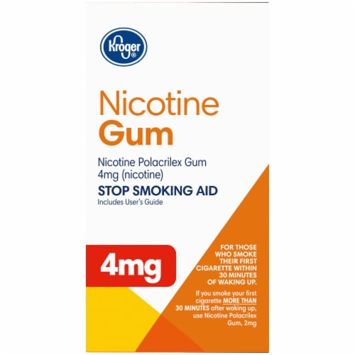 Kroger® Coated Fruit Wave Nicotine Gum 4mg Perspective: right