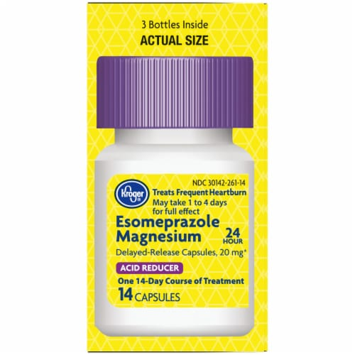 Kroger® Esomeprazole Magnesium Delayed-Release Capsules 20mg Perspective: right