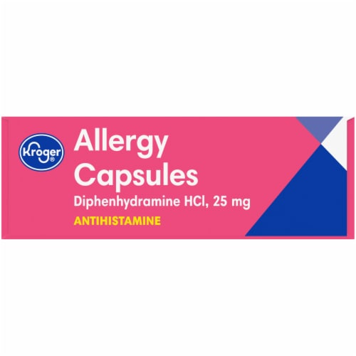 Kroger® Allergy Antihistamine Capsules Box Perspective: right