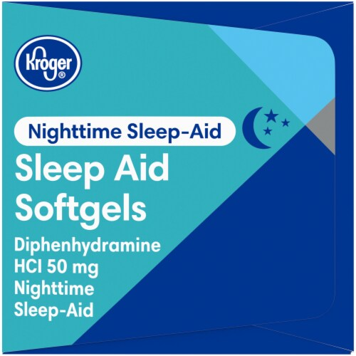 Kroger® Nighttime Sleep Aid Softgels 50mg Perspective: right