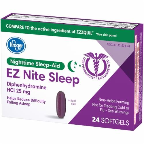 Kroger® EZ Nite Sleep Nighttime Sleep-Aid Softgels 25mg Perspective: right