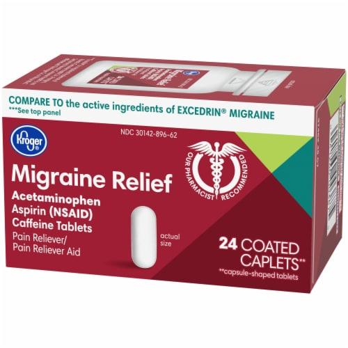Kroger® Migraine Relief Coated Caplets Perspective: right