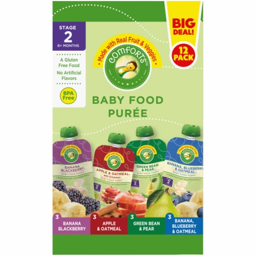 Comforts Baby Food Puree Mixed Variety Pouch Perspective: right