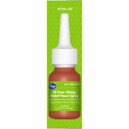 Kroger® 24 Hour Allergy Relief Nasal Spray Bottle Perspective: right