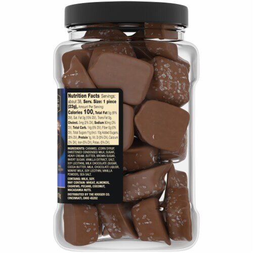 Private Selection™ Milk Chocolate Sea Salt Soft Caramels Perspective: right