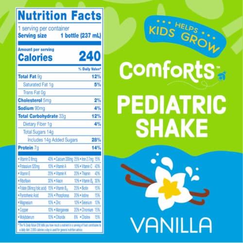 Comforts™ Vanilla Pediatric Nutrition Shakes Perspective: right