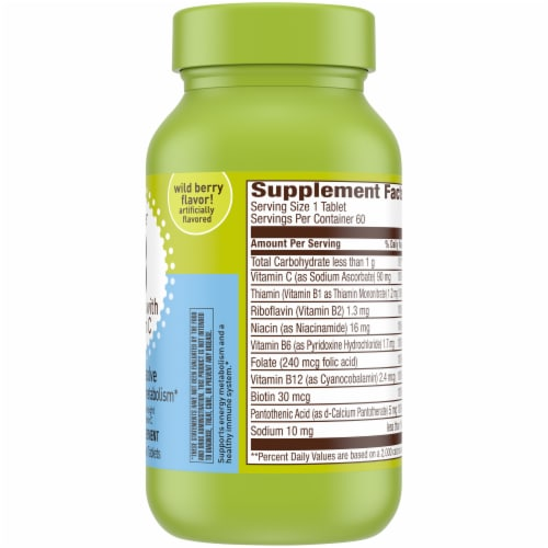 Kroger® Wild Berry Flavor Super B Complex with Vitamin C Dietary Supplement Quick Dissolve Tablets Perspective: right