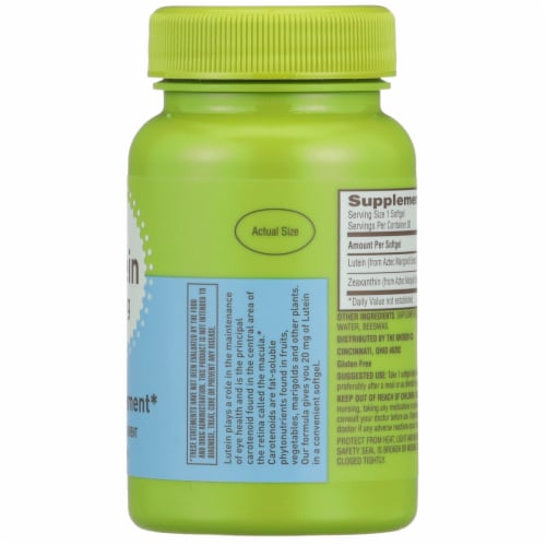 Kroger® Lutein Eye Supplement Softgels 20mg Perspective: right