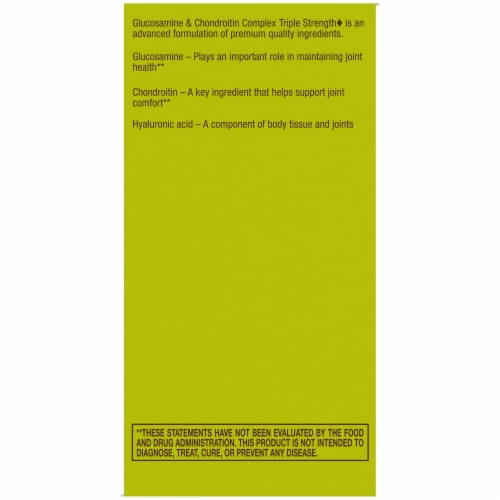 Kroger® Triple Strength Glucosamine & Chondroitin Complex Tablets Perspective: right