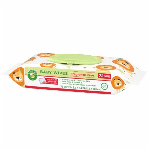 Comforts® Fragrance-Free Baby Wipes Flip-Top Pack Perspective: right