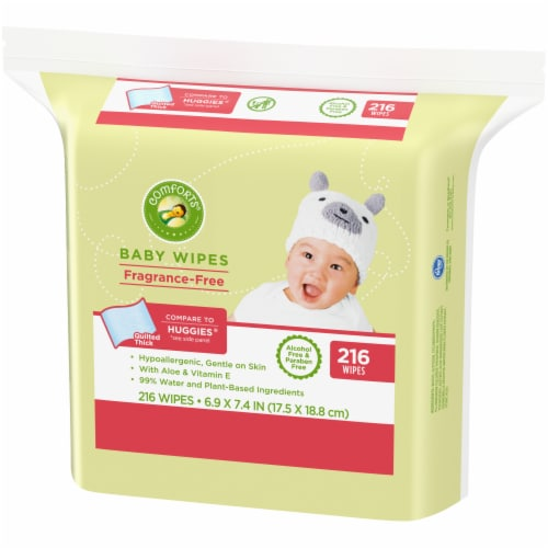 Comforts™ Fragrance-Free Baby Wipes Perspective: right