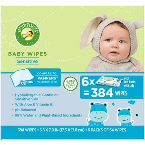 Comforts™ Sensitive Baby Wipes Perspective: right