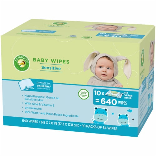 Comforts™ Sensitive Baby Wipes Soft Packs Perspective: right