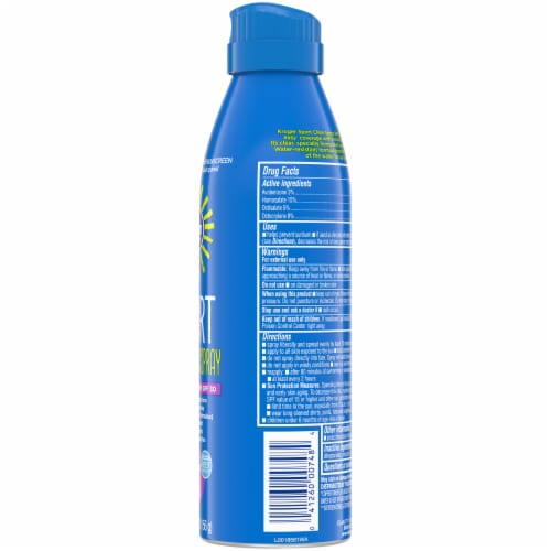 Kroger® Broad Spectrum Sport Sunscreen Spray Aerosol Can SPF 30 Perspective: right