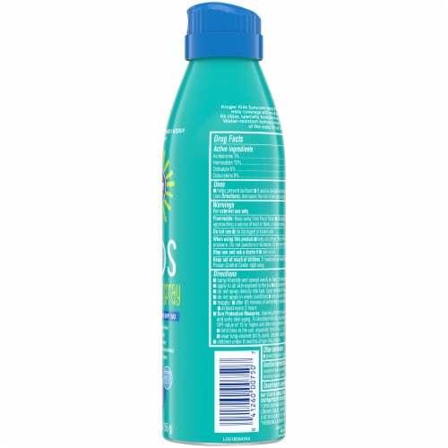 Kroger® Broad Spectrum Kids Sunscreen Spray SPF 50 Perspective: right