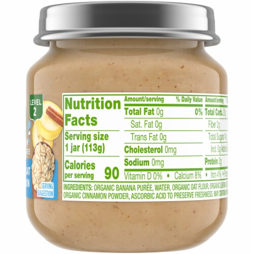 Simple Truth Organic® Banana Oat & Cinnamon Stage 2 Baby Food Perspective: right