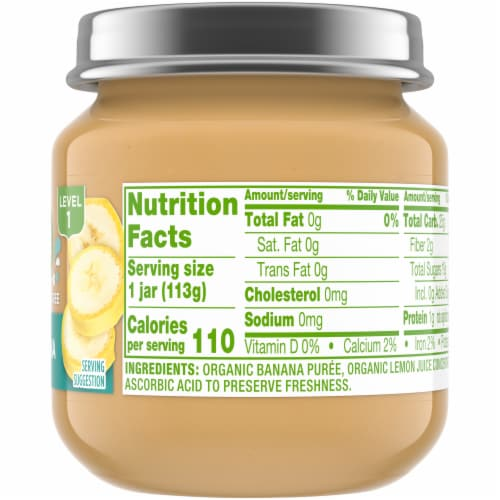 Simple Truth Organic® Banana Baby Food Puree Jar Perspective: right