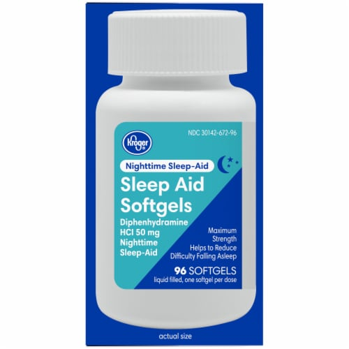 Kroger® Nighttime Sleep-Aid Softgels Perspective: right