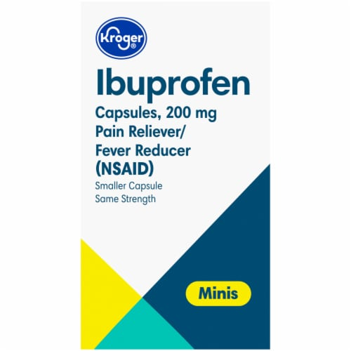 Kroger® Ibuprofen Pain Reliever & Fever Reducer Mini Softgels 200mg Perspective: right